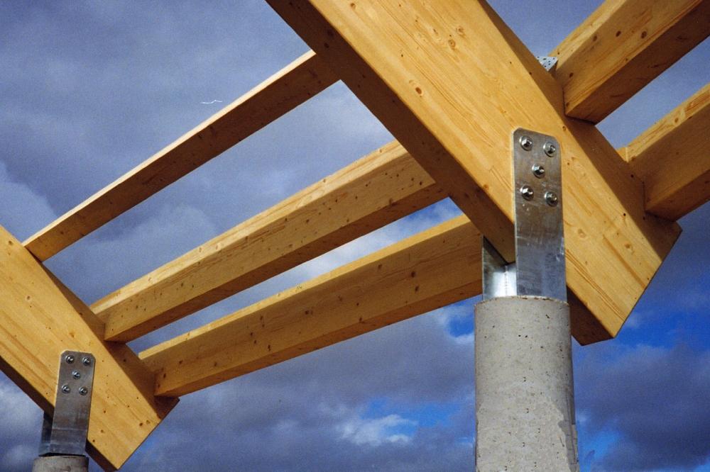 Oficinas cupastone edificaci n industrial trc estructuras de madera - Estructura madera laminada ...